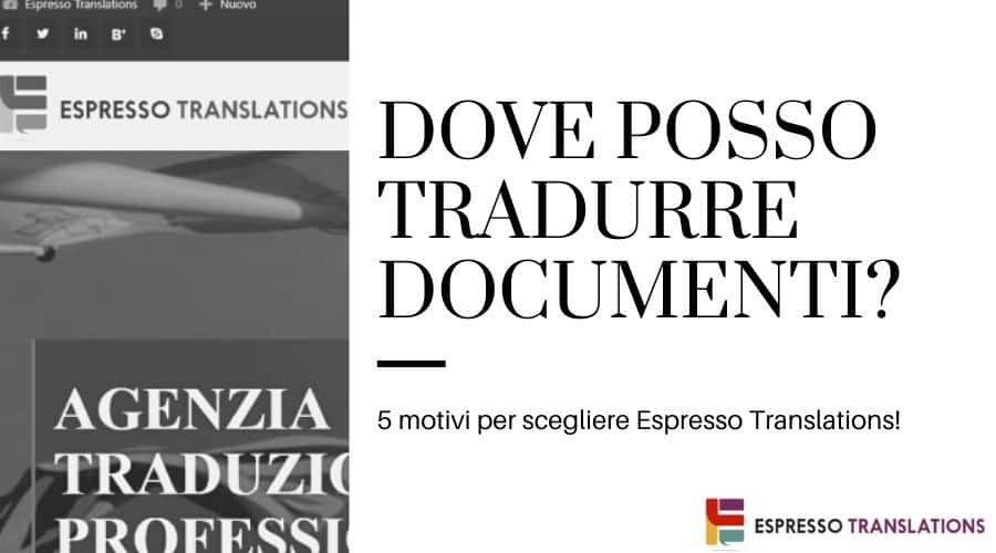 dove posso tradurre documenti ufficiali on line