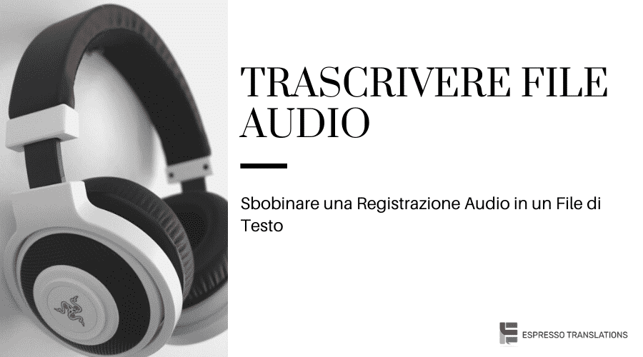 Trascrivere file audio