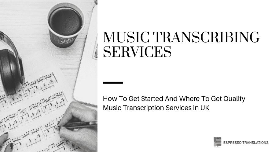 Music Transcribing Services