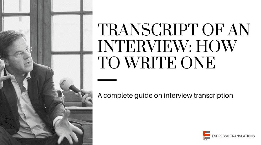 Transcript of interview
